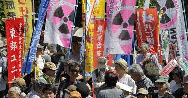 Thousands march as Japan shuts off nuclear power