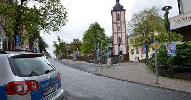 German police overwhelm church shooter