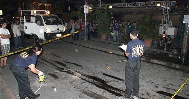 Grenade blast kills 2, wounds 30 in Philippines