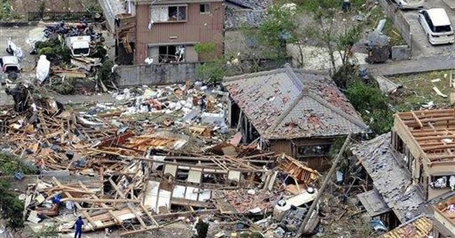 Tornado near Tokyo kills 1, injures dozens
