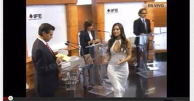 Winner of Mexican presidential debate? Sexy model