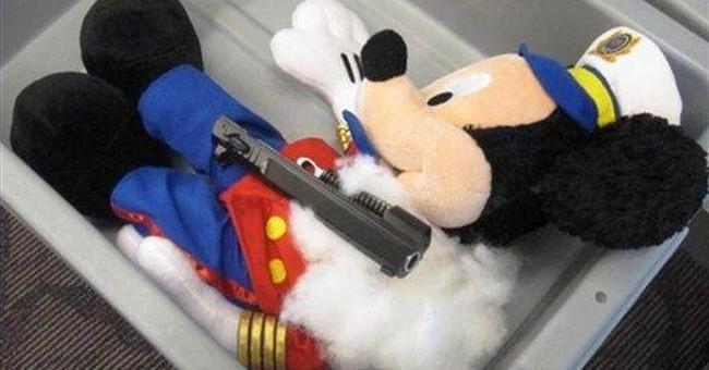 Gun parts found in stuffed animals at RI airport