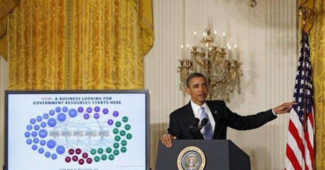 Obama takes on big government: `It has to change'