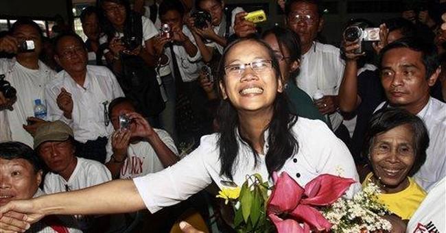 Praise for Myanmar release of political prisoners