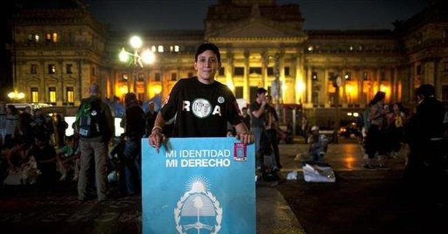 Argentina makes sex-change surgery a legal right