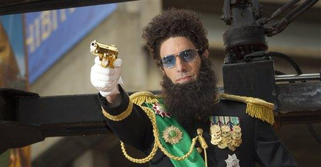 Baron Cohen rolls into London for 'Dictator'