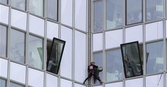 'Spiderman' strikes again west of Paris