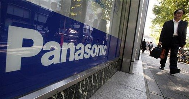 Panasonic loss balloons for record red ink