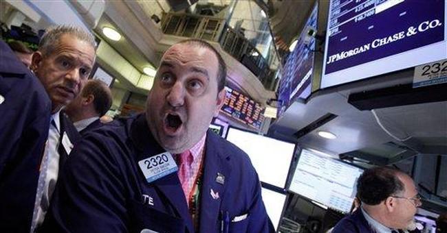 Stock market decline is muted, despite bank slump