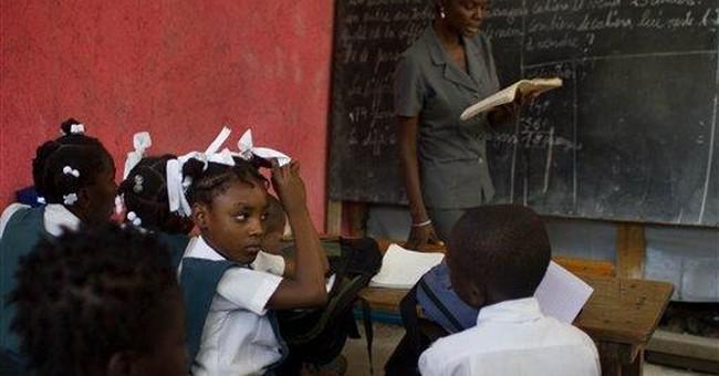 Modest gains mark Haitian leader's first year