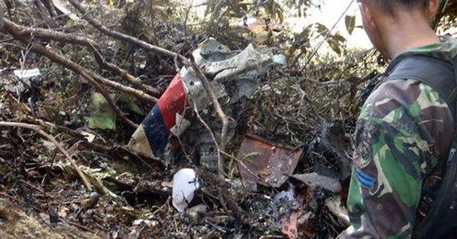 Remains retrieved from Indonesian plane crash
