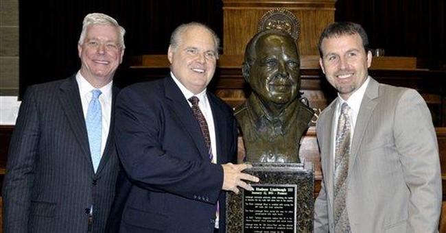 Rush Limbaugh honored at Missouri's Capitol