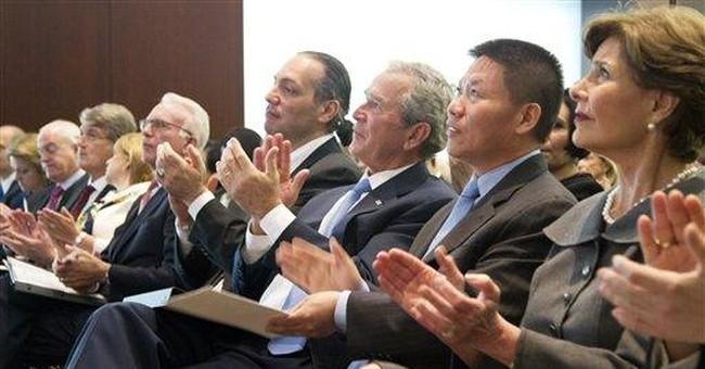Bush touts Arab spring, says US can't fear freedom