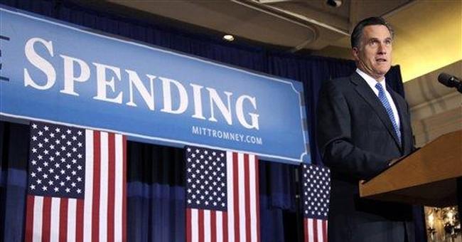 Romney pins 'prairie fire of debt' on Obama
