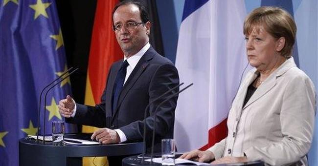 Hollande, Merkel pledge to seek growth for Europe
