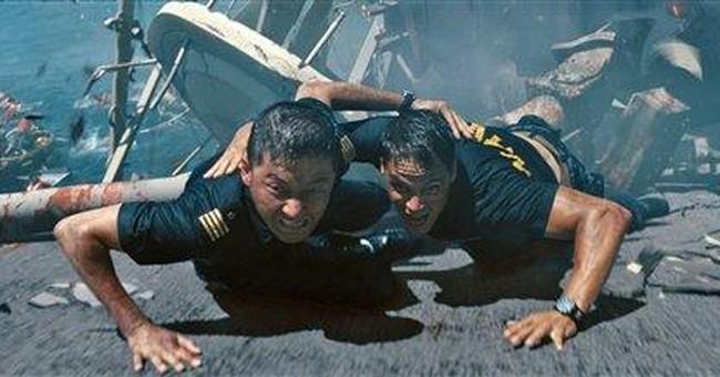 Review: `Battleship' loud, dumb but stays afloat
