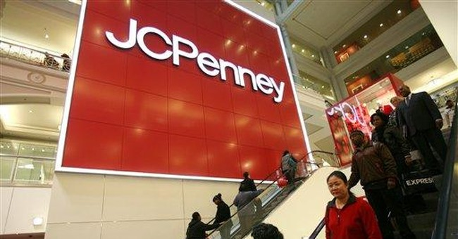 J.C. Penney's shares in free-fall after 1Q loss