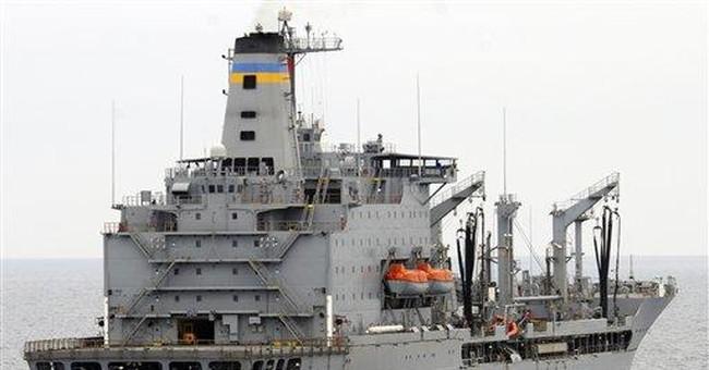 Navy ship arrives at Calif. port after collision