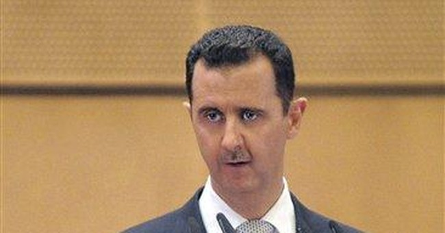 Syrian leader says terrorists are behind unrest