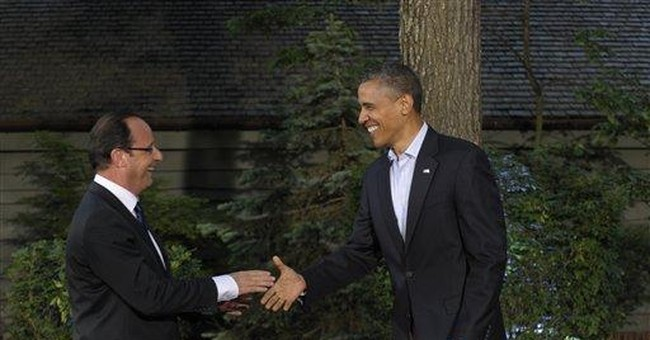 Jokes and sympathy _ Obama greets his G-8 guests
