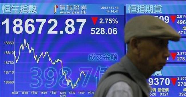 European financial woes push markets lower