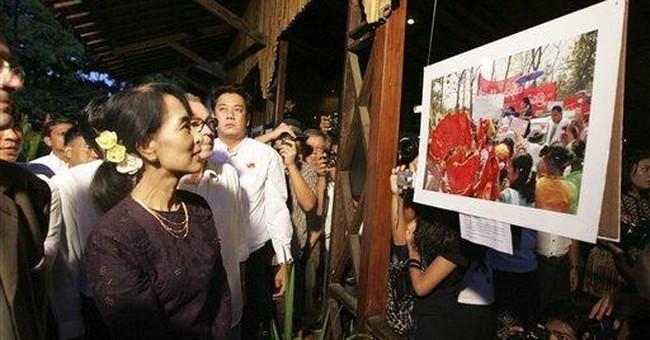 Suu Kyi photo exhibit opens in hometown Yangon