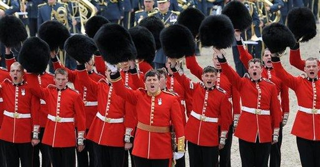 Military parade for UK queen's Jubilee