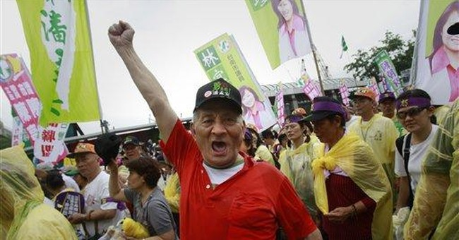 Thousands protest Taiwan leader's inauguration