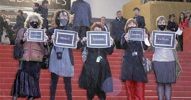Feminist group protest at Cannes premiere