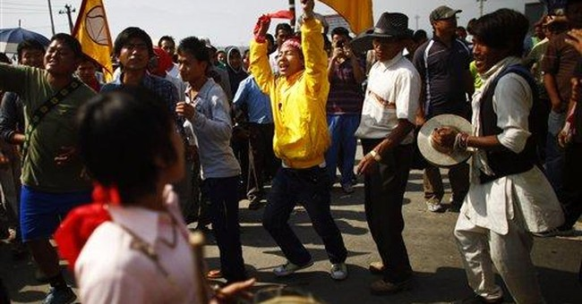 Nepal police detain protesters enforcing strike