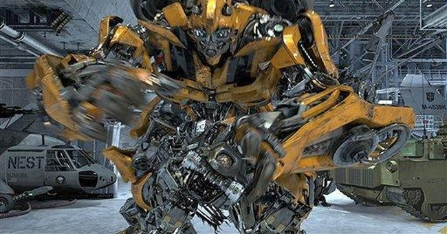 'Transformers' roll out in Universal Studios ride
