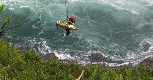 Man survives 180-foot plunge over Niagara Falls