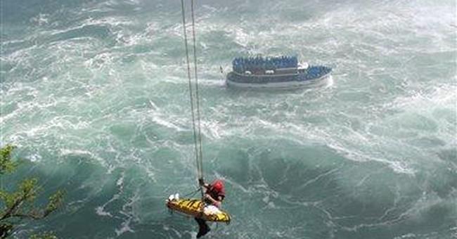 Man survives 180-foot plunge over Niagara Falls