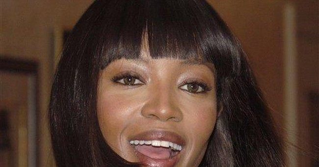 Model Naomi Campbell in Holy Land for birthday