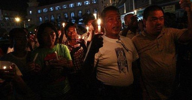 Myanmar power cuts draw protest in main city