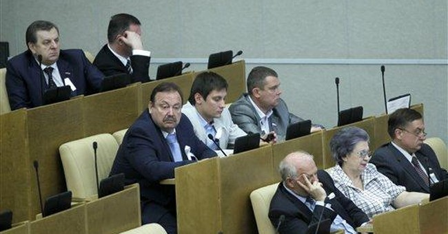 Russian lawmakers slap big sanctions on protesters