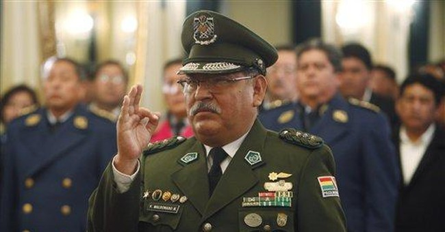 Bolivia gets 7th national police chief in 6 years