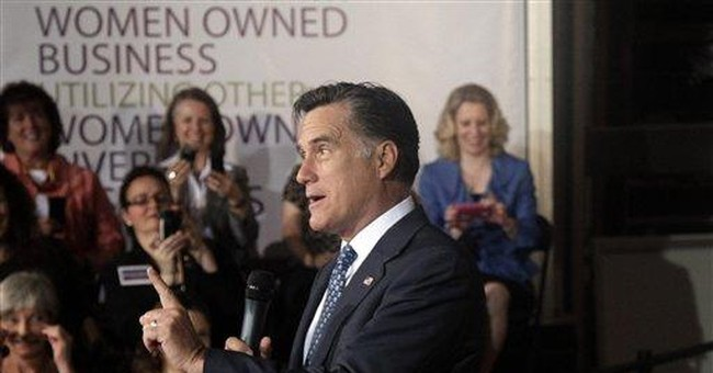 'A woman who. ...': Romney's stories court females