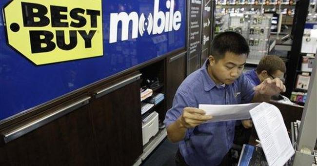 Best Buy profit falls, adj. earns tops Street view