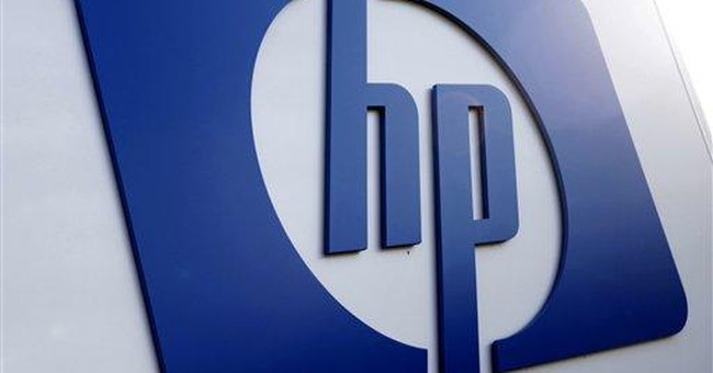 Hewlett-Packard's employment count over the years