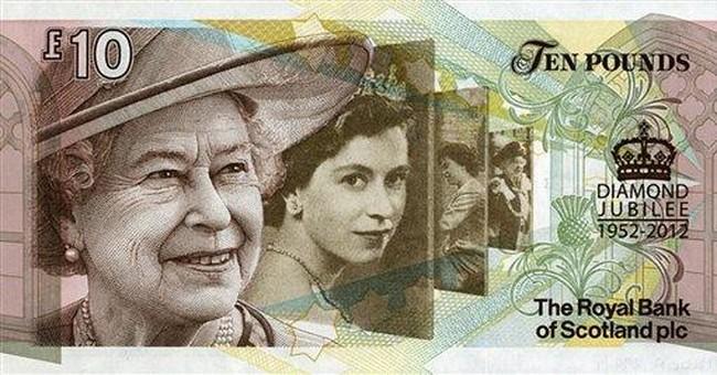 Scottish 10-pound note celebrates Queen Elizabeth