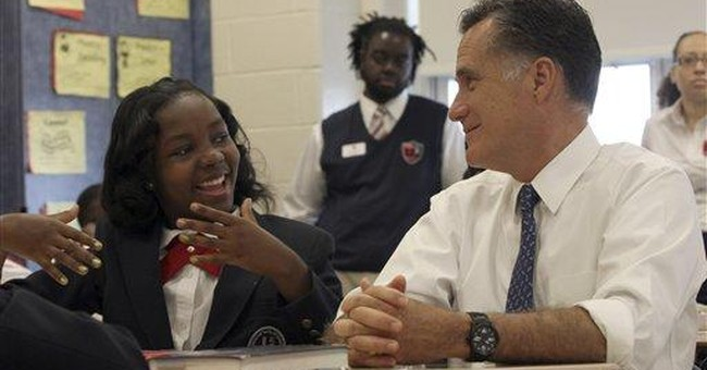 THE RACE: Romney talks up his private-sector days