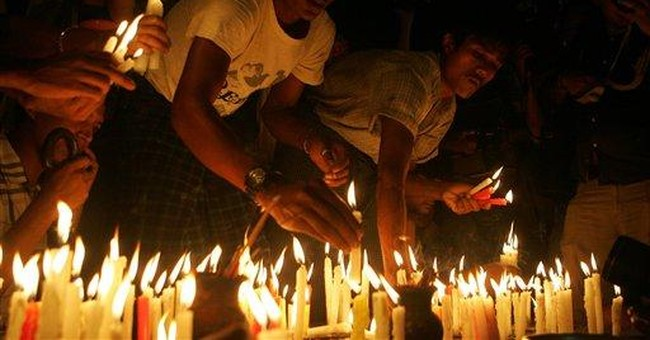 Myanmar power-cut protesters clash with police