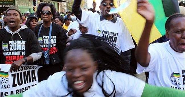 S.African president opens case against artist