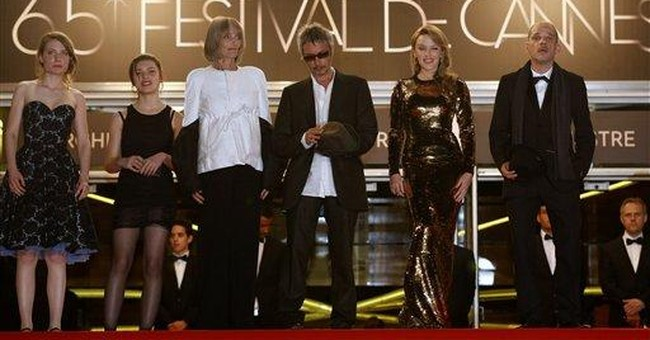 Kylie's golden moment in Cannes