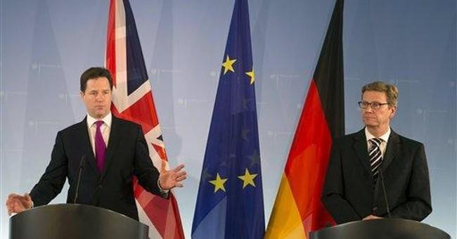 Britain's Clegg warns of impact of Greek euro exit