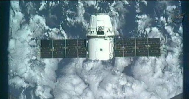 Astronauts enter world's 1st private supply ship