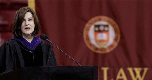 Kennedy widow asks Mass. grads to work for justice