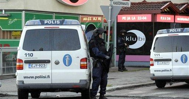 Gunman kills 2, wounds 7 in Finland, then arrested