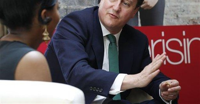 UK's Cameron holds meeting about eurozone crisis
